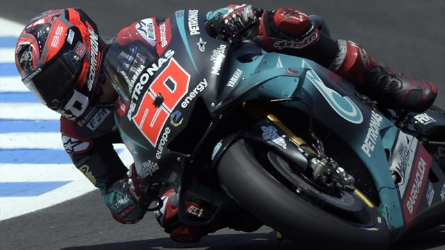 Quartararo encore le plus rapide aux essais de Jerez