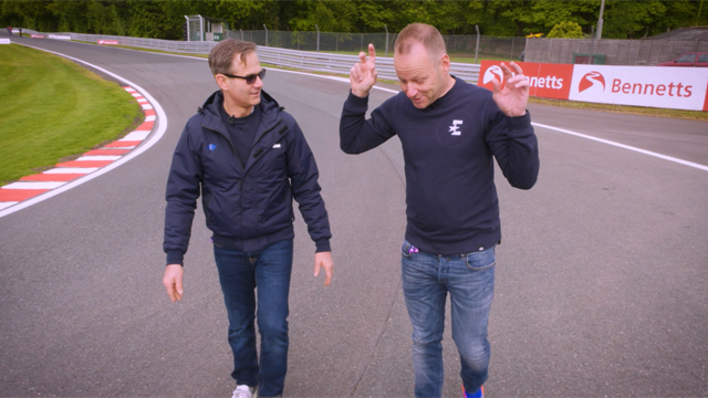 Oulton Park track walk with James Whitham and Shane Byrne