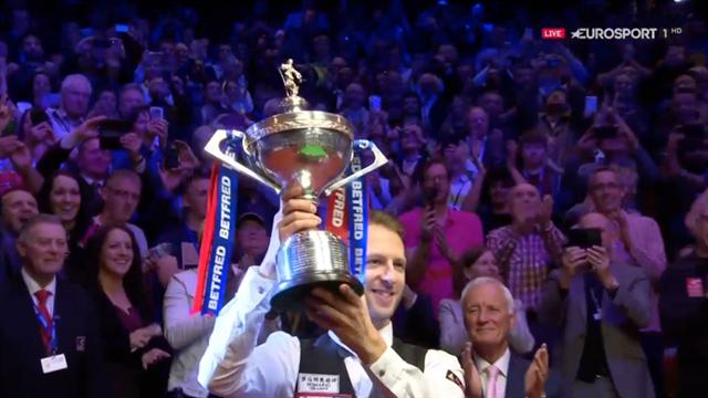 Watch: Judd Trump lifts World Snooker Championship trophy