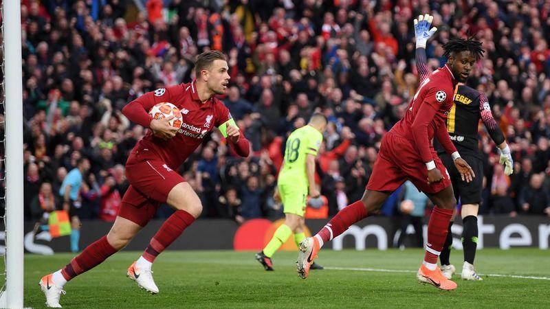 Liverpool-Barcelona Origi Goal
