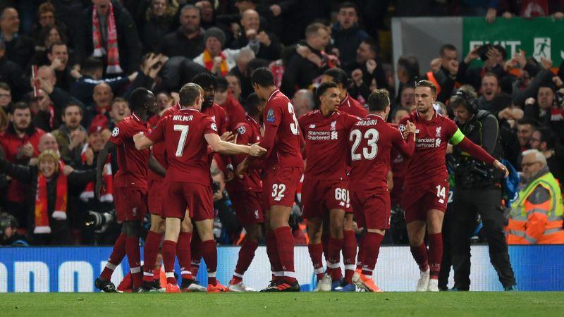 La joie de Liverpool à Anfield contre le Barça