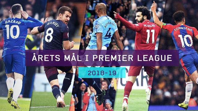 Afstemning: Årets mål i Premier League 2018/19