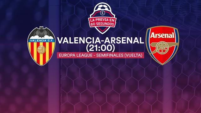 "La previa en 60"" del Valencia-Arsenal: Bakú pasa por Mestalla (21:00)"