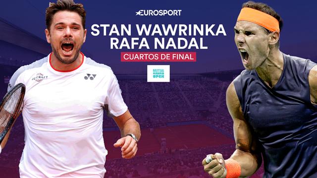 Mutua Madrid Open 2019, Wawrinka-Nadal: El revés más elegante contra una drive que va a más (21:30)