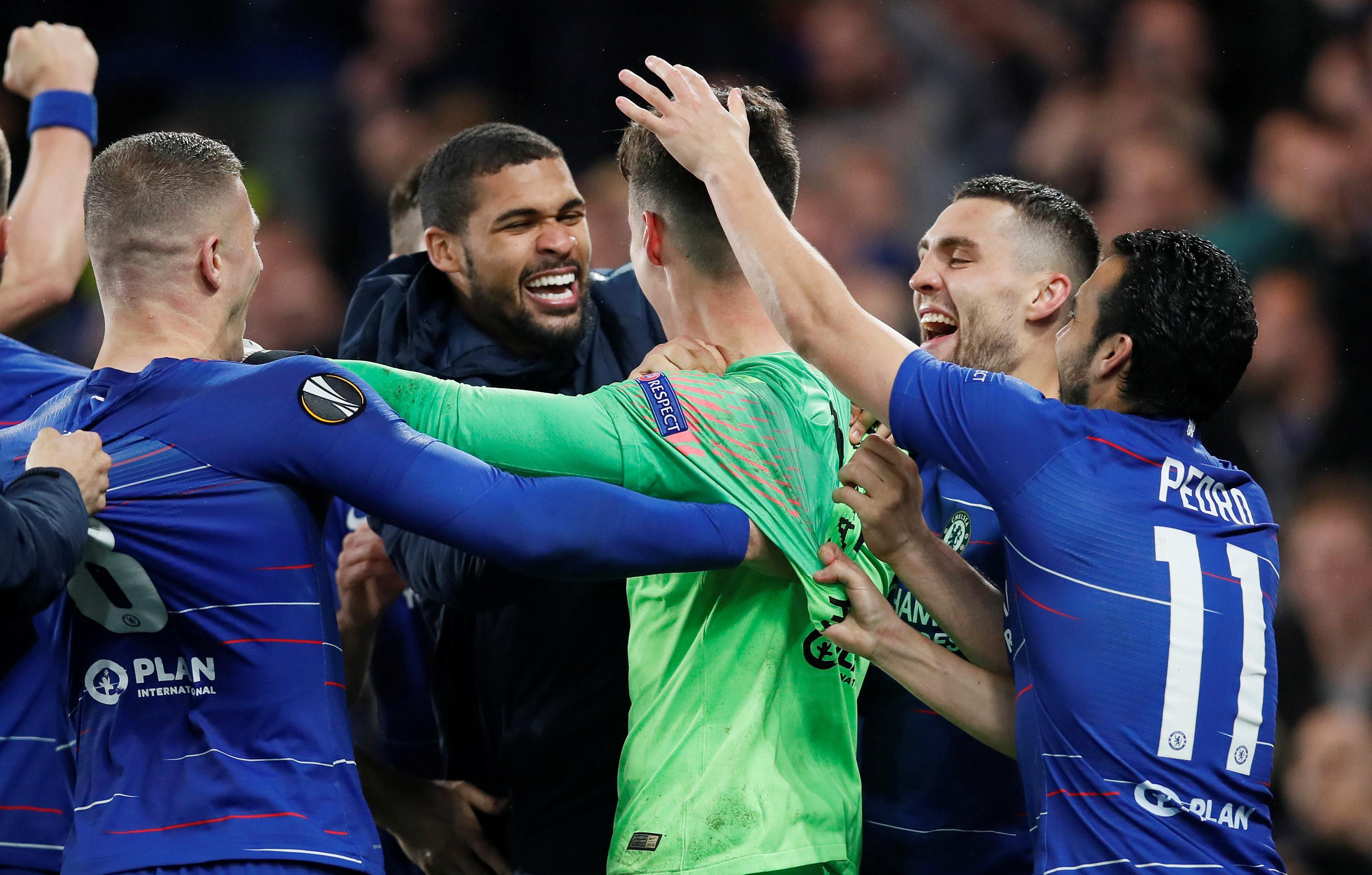 Chelsea, Avrupa Ligi finalinde Eintracht Frankfurt'u penaltılar sonucunda eledi. Kaleci Kepa, iki penaltı kurtardı.
