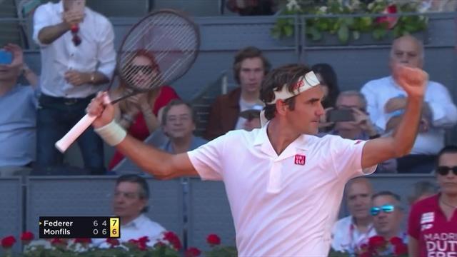 Federer survives scare against Monfils, Nadal through