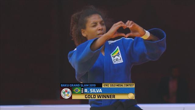 Baku Grand Slam: Rafaela Silva beats Tsukasa Yoshida to win -57 kg gold