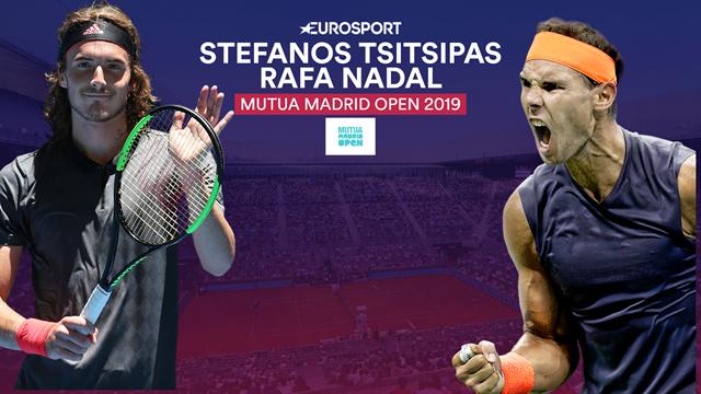 Mutua Madrid Open 2019, Tsitsipas-Nadal: Prueba de fuego (21:00)
