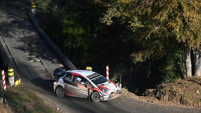 El estonio Tanak se coloca líder del Rally de Chile tras la primera jornada