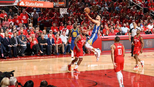 Curry and Thompson edge Warriors past Rockets