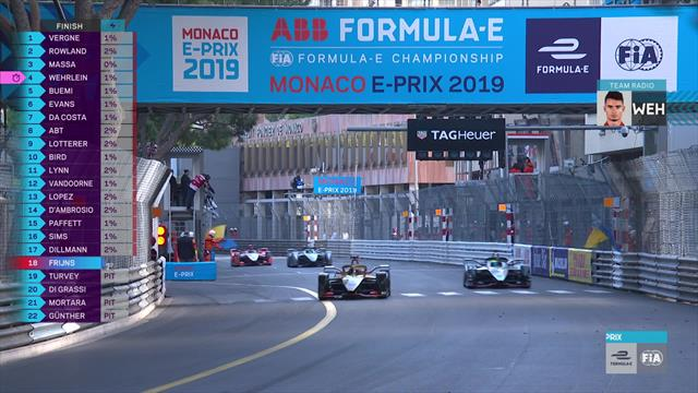 Vergne clinches Monaco win in tight last lap