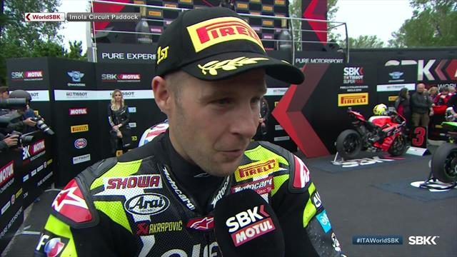 Rea 'super happy' after excelling in Imola rain