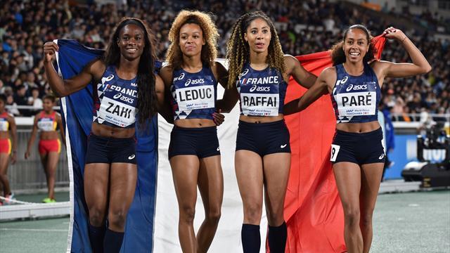 Les Françaises en or sur le 4x200m