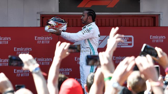 Hamilton au top, Mercedes (encore) à la fête
