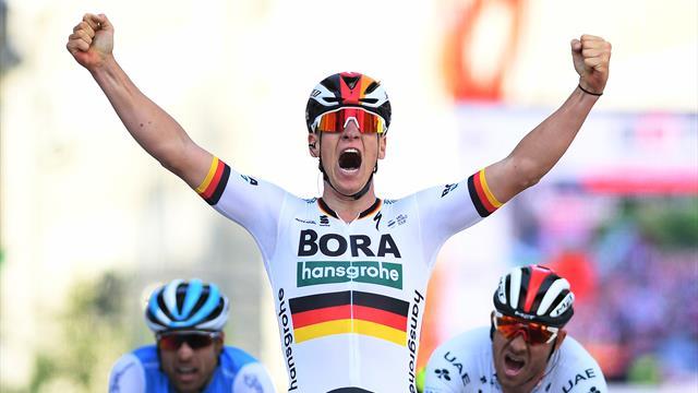 Giro de Italia 2019 (2ª etapa): Ackermann sorprende con mucha potencia en Fucecchio