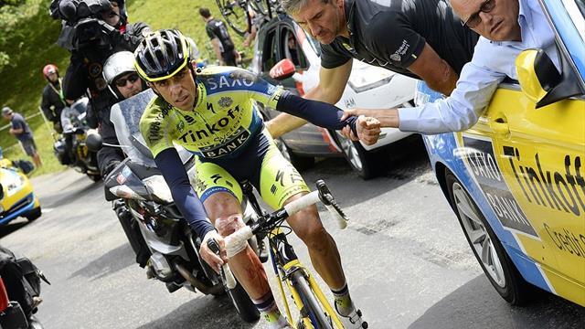 """Contador en Eurosport: """"Cuando me retiré me di cuenta de que tenía roto un ligamento de la muñeca"""""""