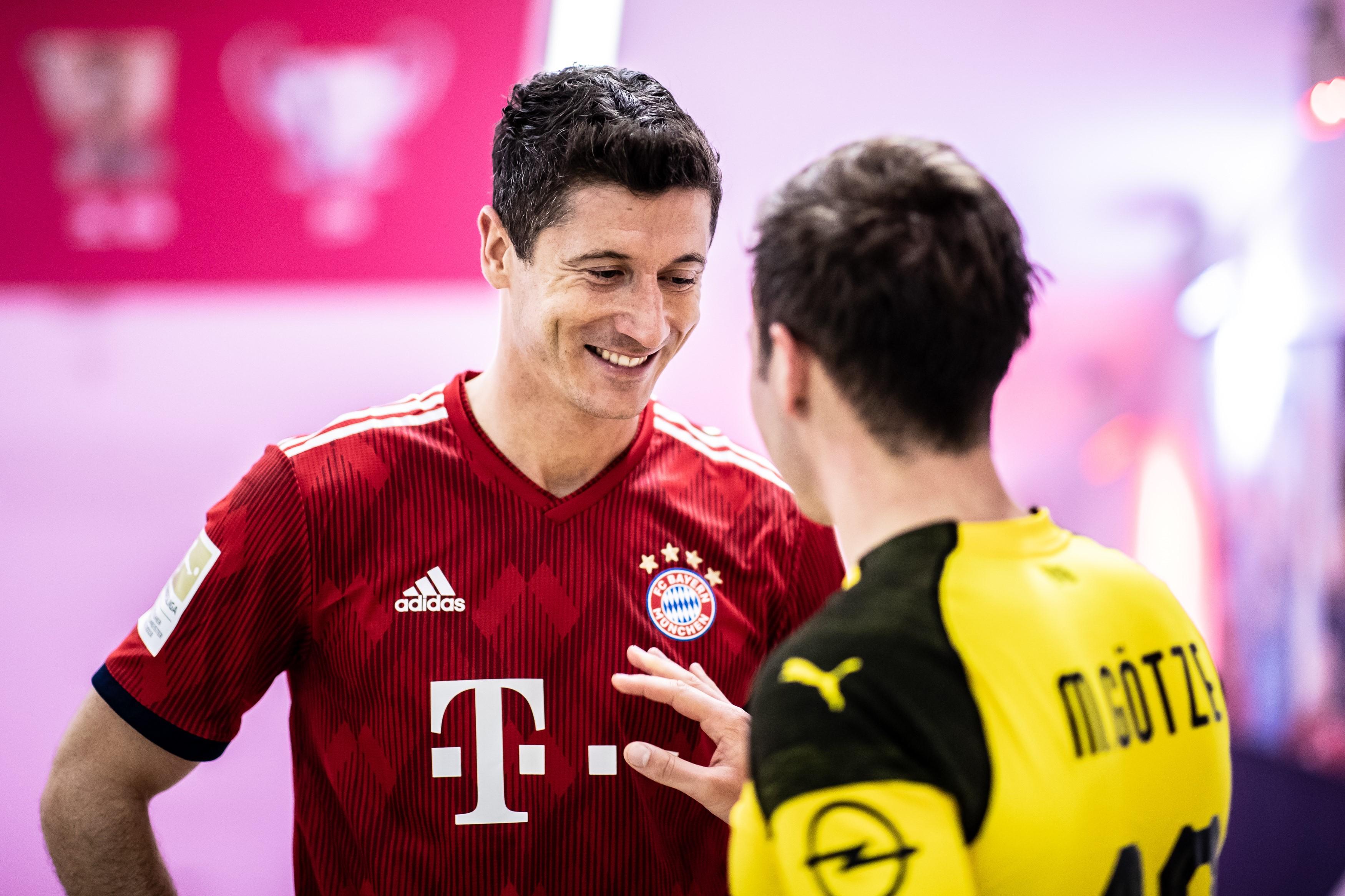 Robert Lewandowski, Mario Götze - FC Bayern vs. Borussia Dortmund