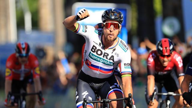 Sagan domine au sprint Viviani et s'empare du maillot de leader