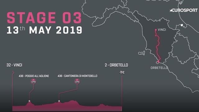 Giro d'Italia: Dette er tredje etappe