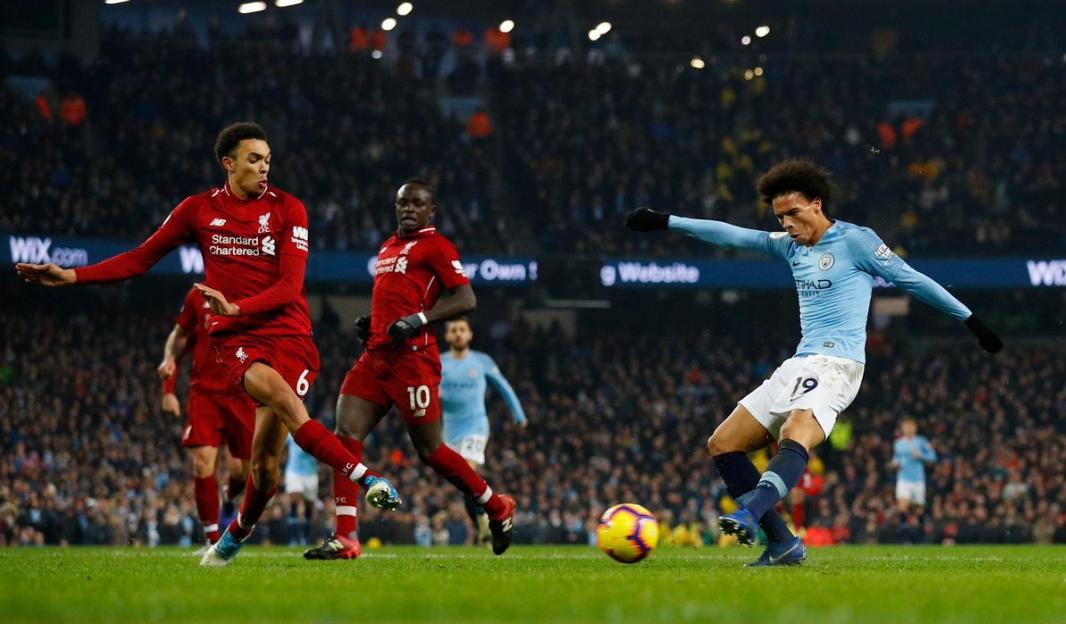Leroy Sane, Manchester City vs Liverpool