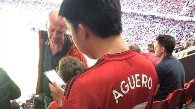 Why Man Utd fan had 'Aguero 7' on his shirt
