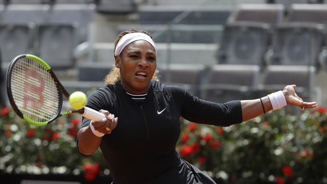 Serena Williams victorious on return in Rome to set up clash with sister Venus