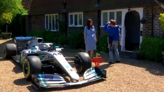 Mercedes fly F1 car to home of terminally ill 'spirit angel' of Hamilton
