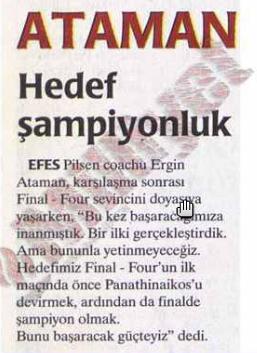 Anadolu Efes arşiv
