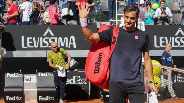 """Federer, dopo Sinner allenamento con Seppi: """"Che bello essere di nuovo a Roma"""""""