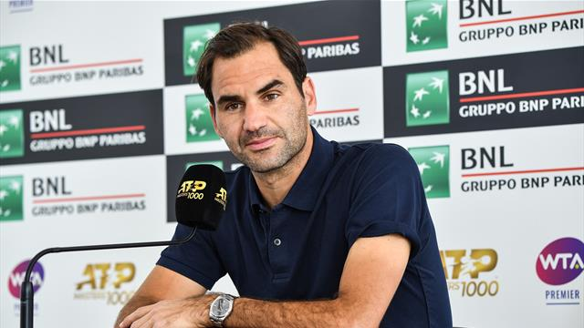 Federer: It was cold in Switzerland so I came to play in Rome!
