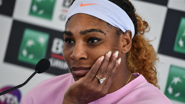 Serena pulls out of Rome with knee injury