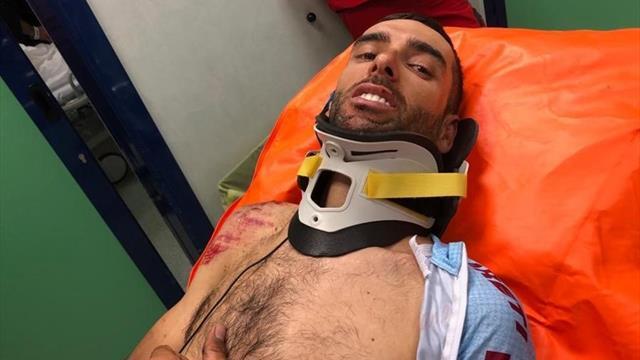 👀🚴♂🚑 Giro de Italia 2019: Dani Navarro, víctima de la caída final, se retira con fracturas
