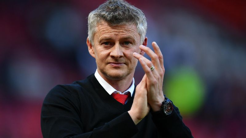 Ole Gunnar Solskjaer, manager of Manchester United acknowledges the fans following his side's defeat during the Premier League match between Manchester United and Cardiff City at Old Trafford on May 12, 2019 in Manchester, United Kingdom.