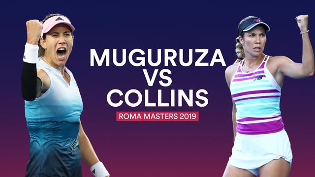 Masters Roma 2019, Muguruza-Collins: A acumular buenas sensaciones y pendiente de la lluvia