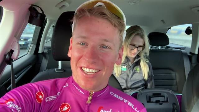 Giro de Italia 2019: Ackermann, encantado de recuperar la maglia ciclamino