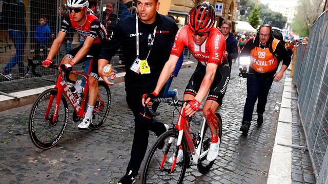 Tom Dumoulin a doubt for Tour de France after knee injury setback