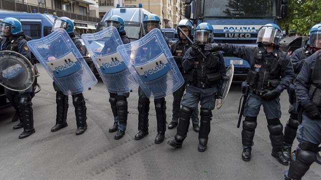 Scontri prima di Atalanta-Lazio: tre tifosi della Lazio arrestati, un agente ferito