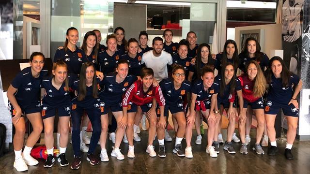 La visita sorpresa de Ramos a la Selección femenina antes del Mundial de Francia