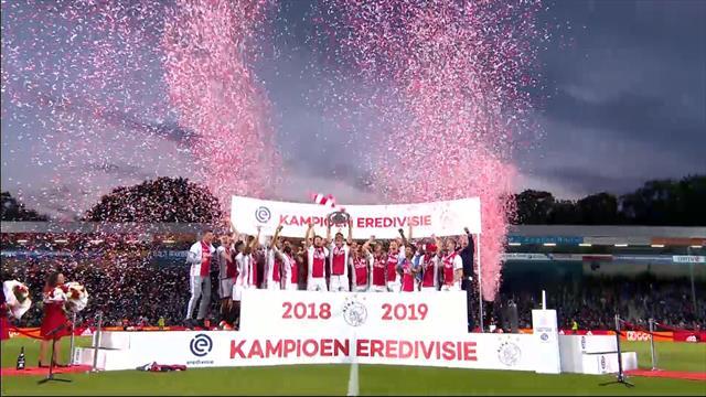 Ajax campione d'Olanda per la 34a volta: la festa può cominciare