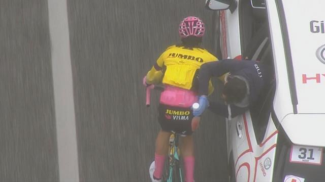 Giro de Italia 2019: Así atendieron a Roglic tras la caída en la sexta etapa