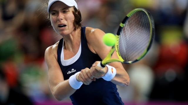 Johanna Konta fights back to see off Sloane Stephens at Italian Open