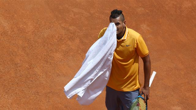 Kyrgios throws chair, walks off court, gets defaulted