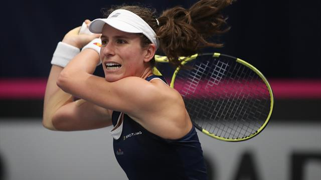 Johanna Konta sees off Sloane Stephens and Venus Williams on productive day in Rome
