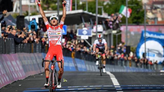 Fausto Masnada se reafirma en San Giovanni, Conti nueva maglia rosa