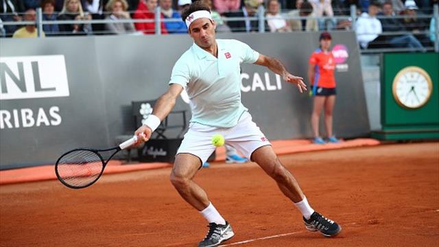 Федерер поругался с арбитром из-за влажного корта, отыграл 2 матчбола и все же прошел Чорича
