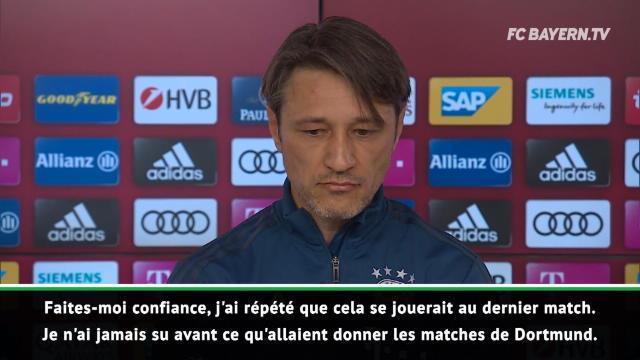 """34e j. - Kovac : """"J'ai répété que cela se jouerait au dernier match"""""""