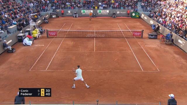 Rome - Miraculé, Federer vient à bout de Coric et file en quarts