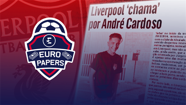 Euro Papers: Liverpool 'certain' to snatch Portuguese wonderkid for free