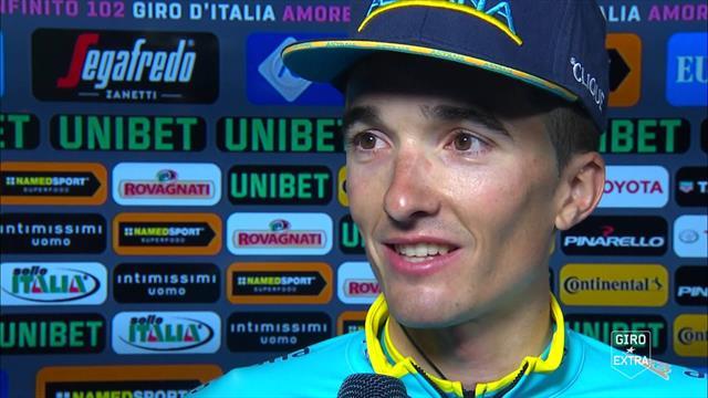 """Pello Bilbao: """"Tappa durissima, ci hanno provato in tanti. Grazie a Zeits e Cataldo"""""""
