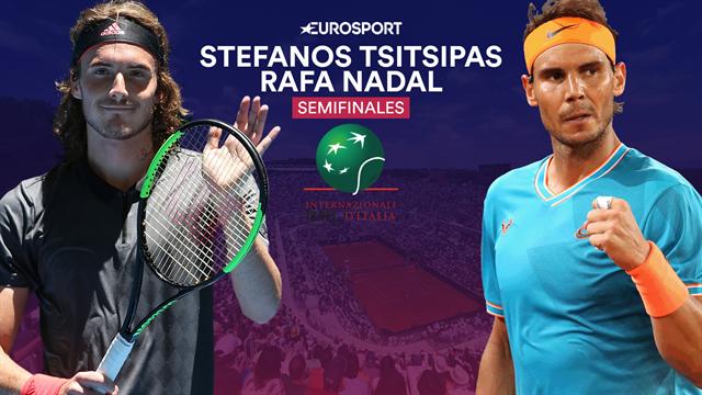 Masters Roma 2019, Tsitsipas-Nadal: Semifinales con sabor a revancha (14:30)
